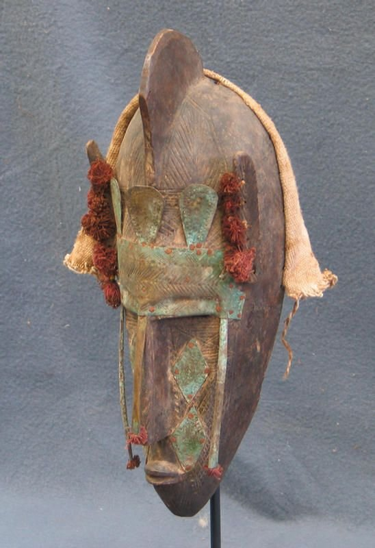 13: Puberty circumcision mask, Marka Tribe, (1945) RARE