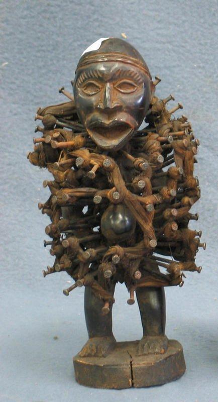 15: Nkisi Nkonde Power Fetish, Kongo Tribe, Congo, (196