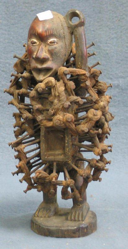 17: Nkisi Nkonde Power Fetish, Kongo Tribe, Congo, (196