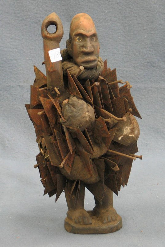 18: Rare Nkisi Nkonde Power Fetish, Kongo Tribe, Congo