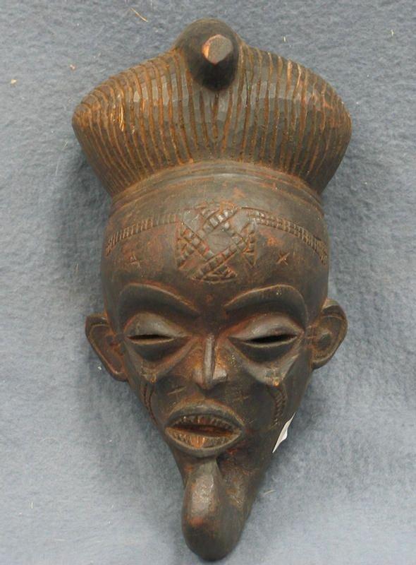 19: Ancestor effigy mask, Guro Tribe, Ivory Coast (1975