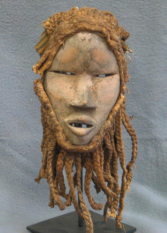 20: Ancestor effigy mask, Yaure Tribe, Ivory Coast (197