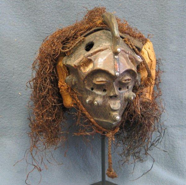 22: PO Dance mask, Choke Tribe, Angola, (1977)