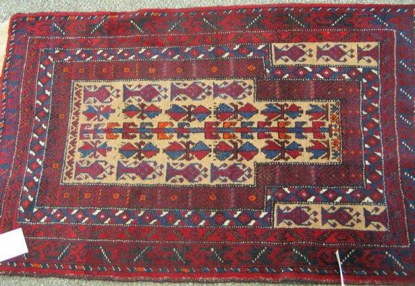 209: 2.9 x 4.0 Turkish prayer rug
