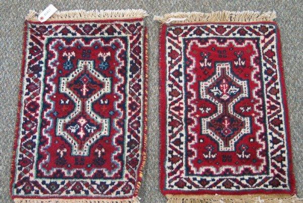 214: (2) 1.4 x 2.0 camel Turkish mats