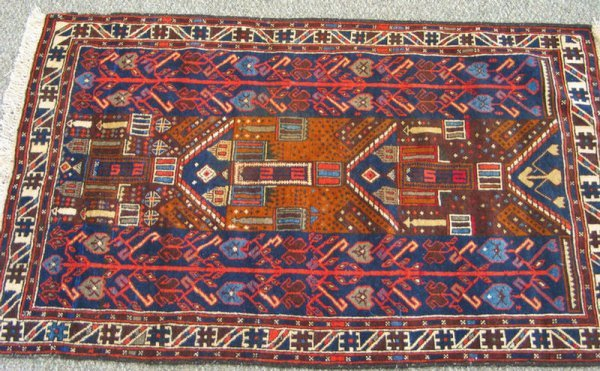 217: 2.10 x 4.5 Prayer rug