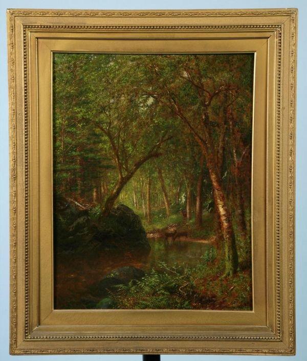 526: Alexander Helwig Wyant, American, 1836-1892, 19 1/
