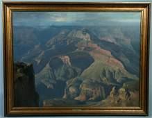 "641: Ralph Love, American, 1907-92, 36 1/2"" x 48"" oil o"