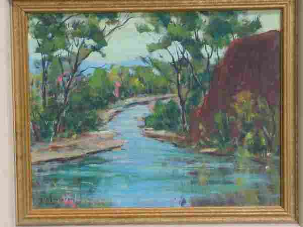 670: Ruth Nettleton (American, 20th century), oil on ca