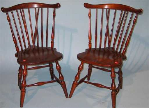 - 435A: Set Of 6 Pennsylvania House Cherry Windsor Chairs