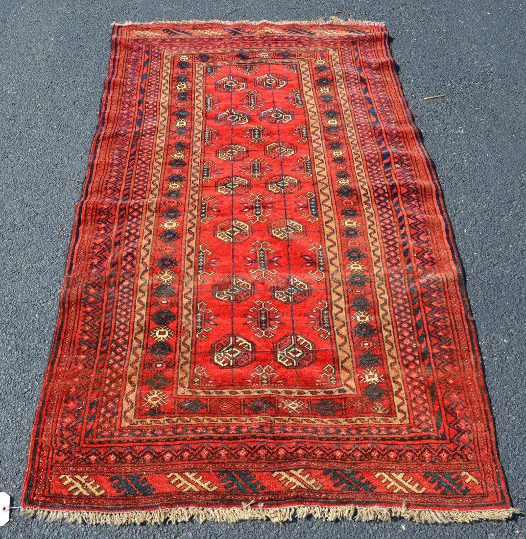 """Turkish throw rug, 3'3"""" x 5'6"""""""
