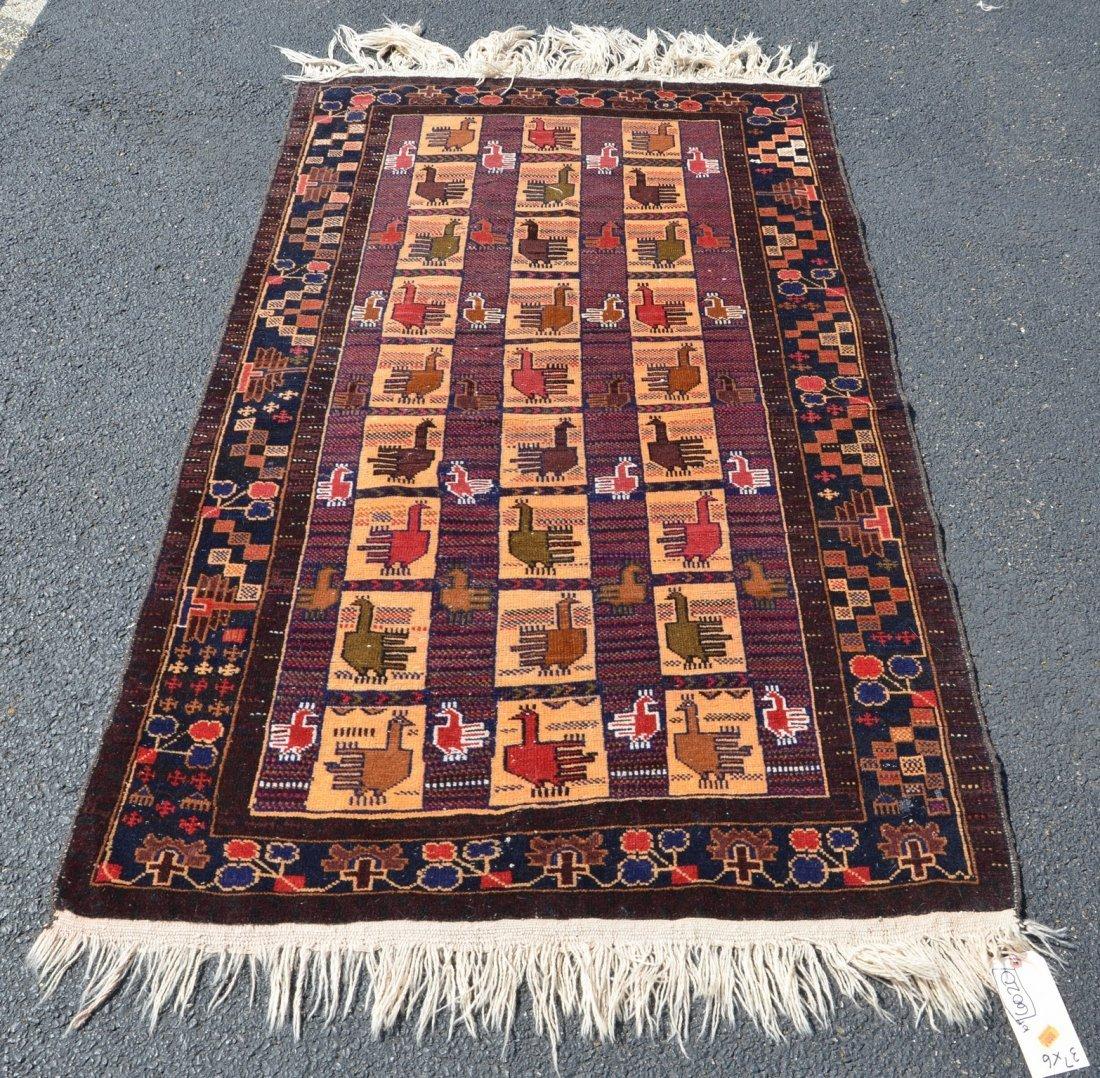 """Turkish carpet, 3'7"""" x 6'"""
