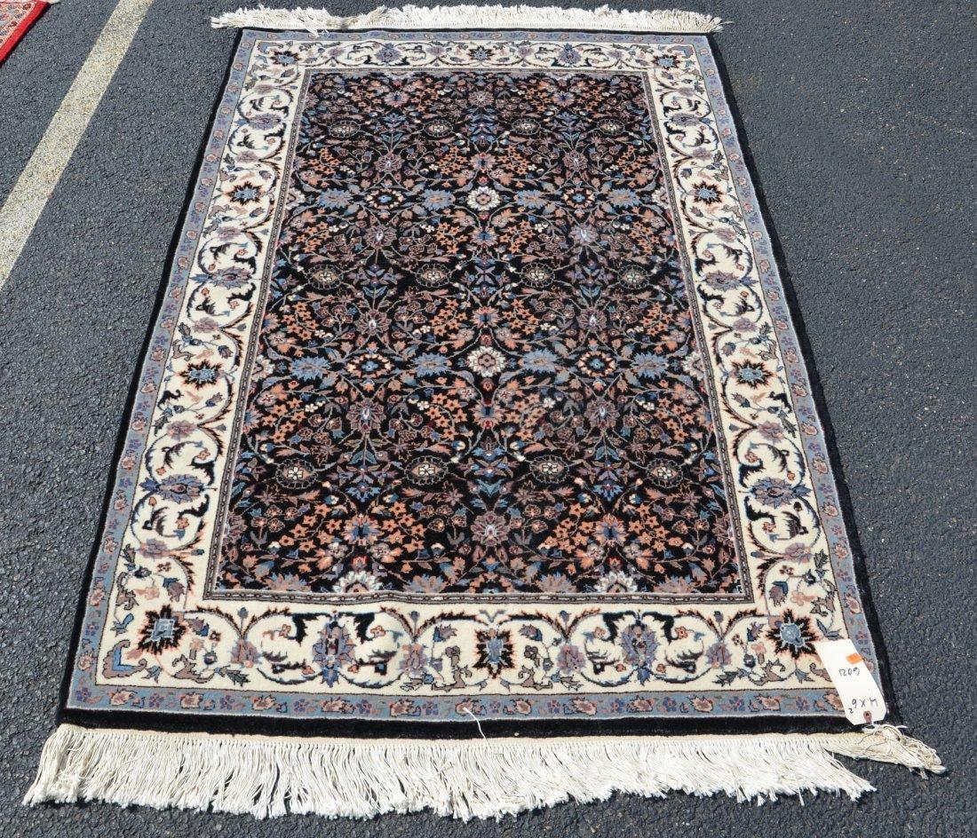 """Kashan carpet, 4' x 6'2"""""""