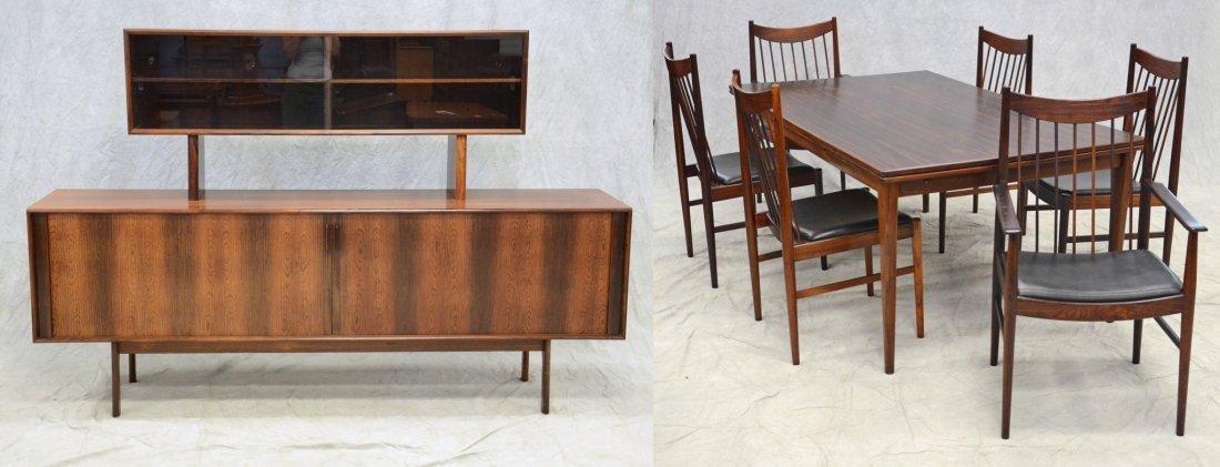 Arne Vodder for Sibast  rosewood dining room suite,