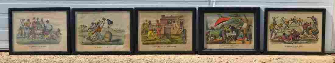 (5) Currier & Ives Prints, lithographs, to include: The