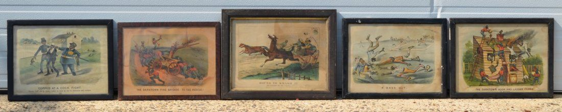 (5) Currier & Ives Prints, lithographs, to include: