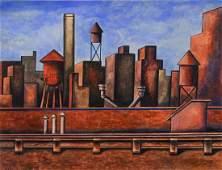 Henry Billings (American, 1901-1985), watercolor and
