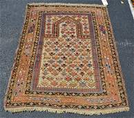 "Antique Caucasian Prayer rug, 3'8"" x 4'9"""
