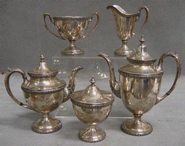 26: Manchester Silver Co sterling silver teaset