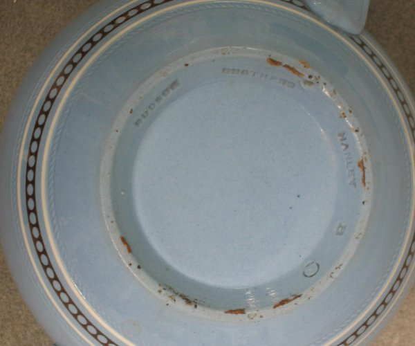 111: Dudson Brothers blue earthenware teapot, - 2