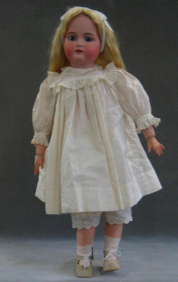 "1001: K*R Simon & Halbig bisque head child doll, 31"""
