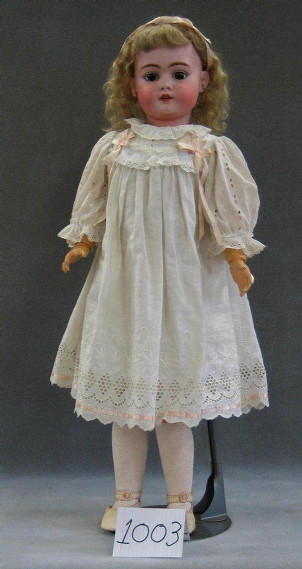 1003: Simon & Halbig 1009 DEP bisque head child doll, 3