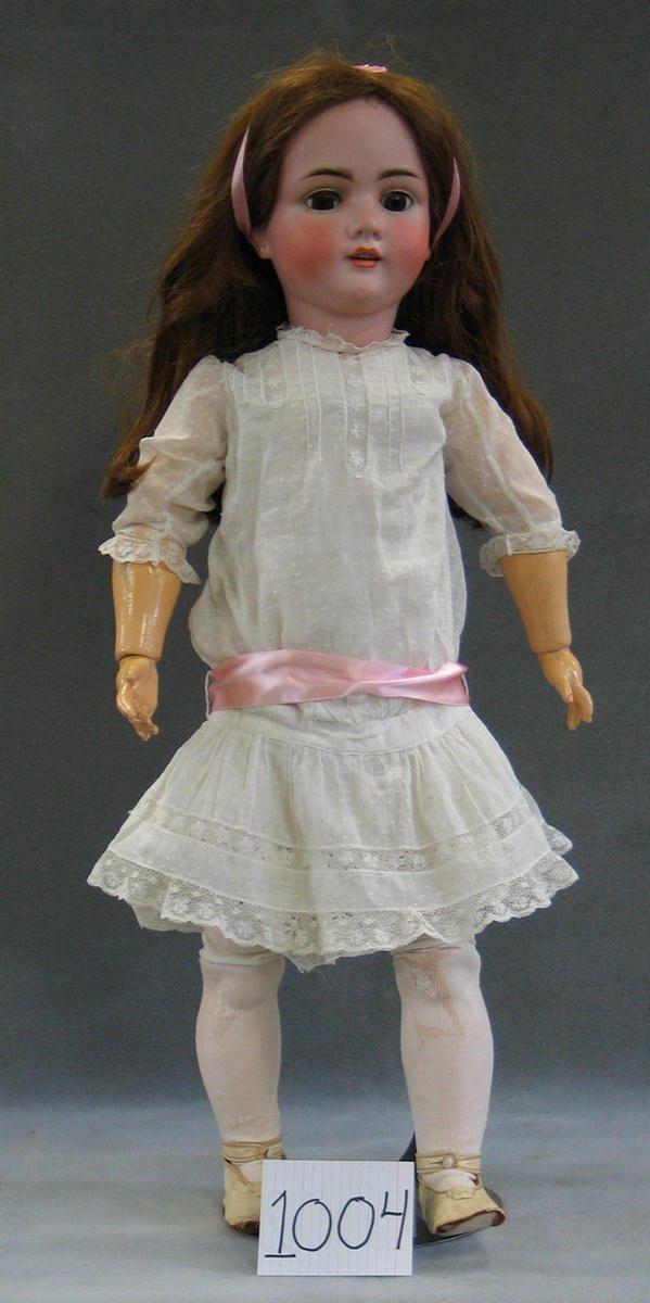 """1004: Kley and Hahn Walkure bisque head child doll, 31"""""""