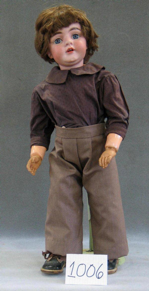 1006: Kestner 143 bisque head child doll on toddler bod