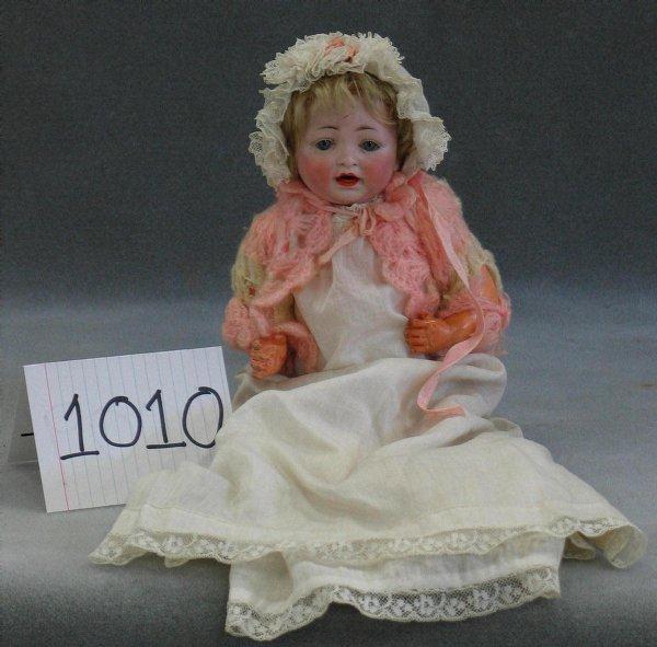 1010: Hertel, Schwab & Co bisque head German baby, mark