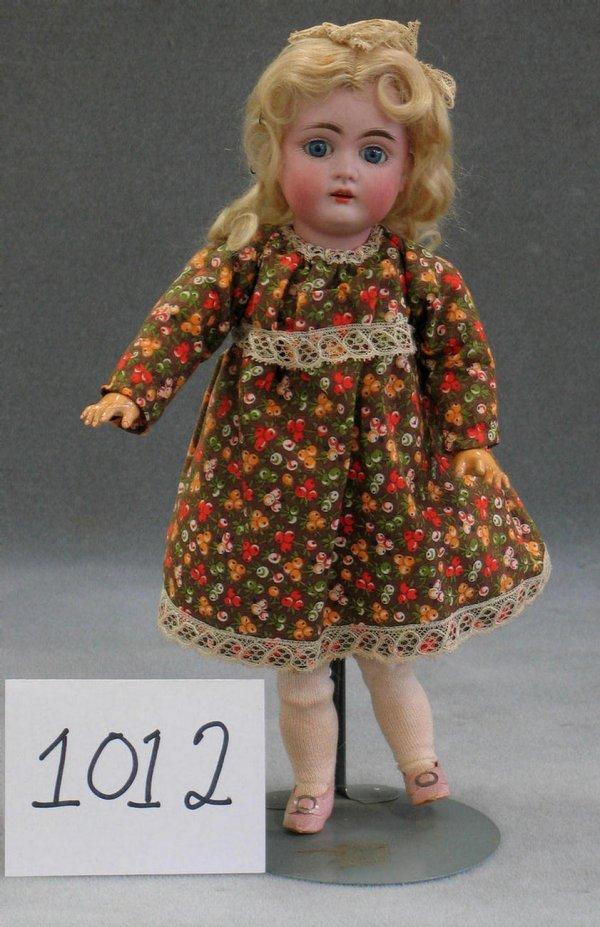 "1012: Kestner bisque head child doll, 12"""