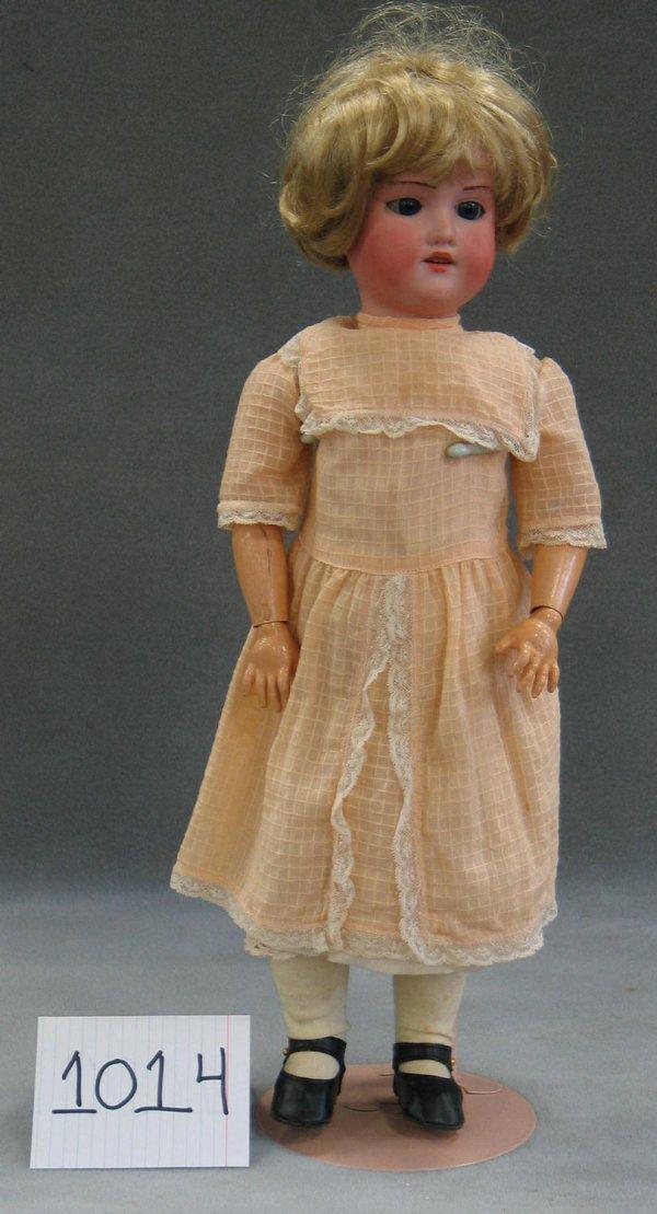 """1014: AM 390 bisque head child doll, 18 1/2"""""""