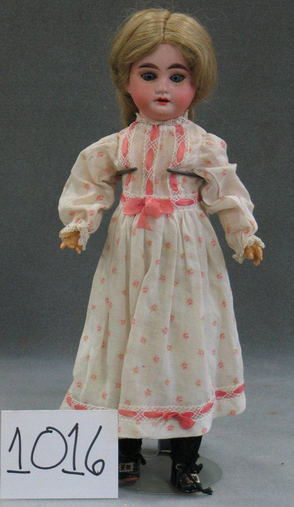 """1016: AM 1894 bisque head child doll, 15"""""""