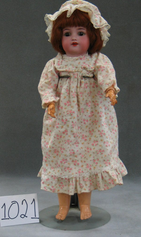 """1021: Simon and Halbig 540 bisque head child doll, 21"""""""