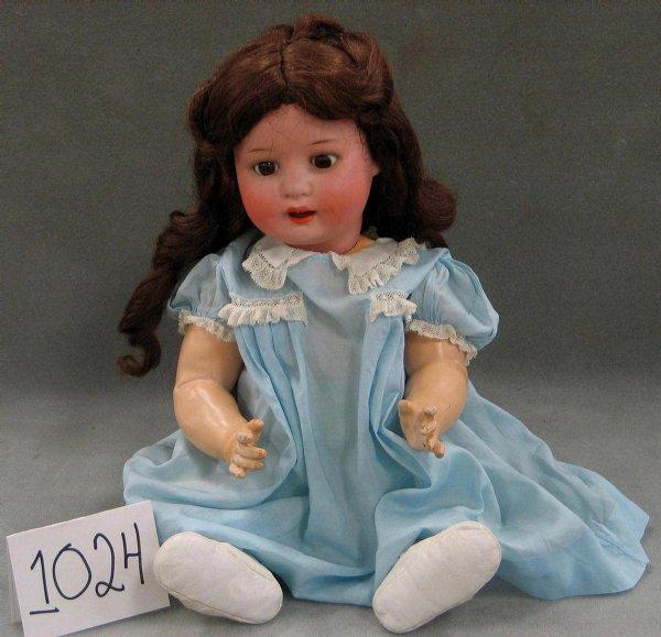 """1024: Ernst Heubach bisque head baby doll, 21"""""""