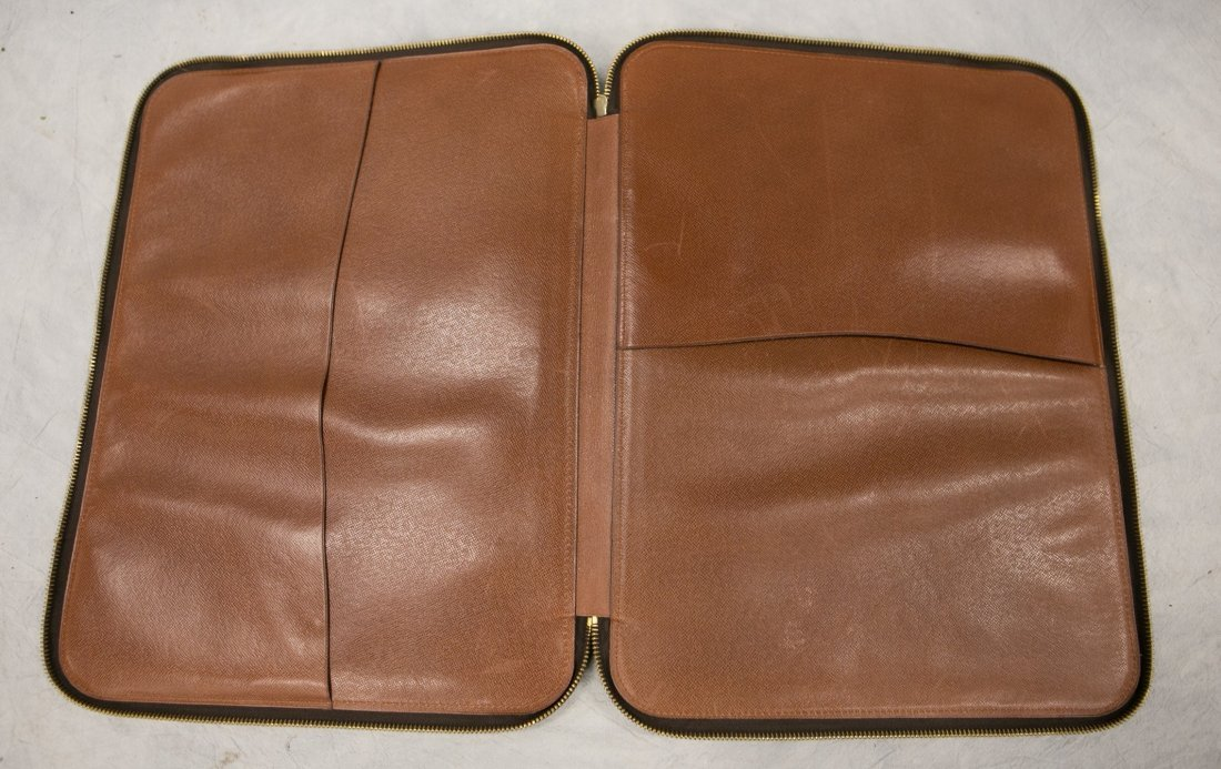 "(3) Louis Vuitton soft bags, portfolio, 15"" x 12"", JQD - 10"