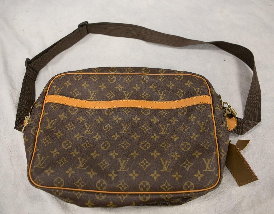 "(3) Louis Vuitton soft bags, portfolio, 15"" x 12"", JQD - 2"
