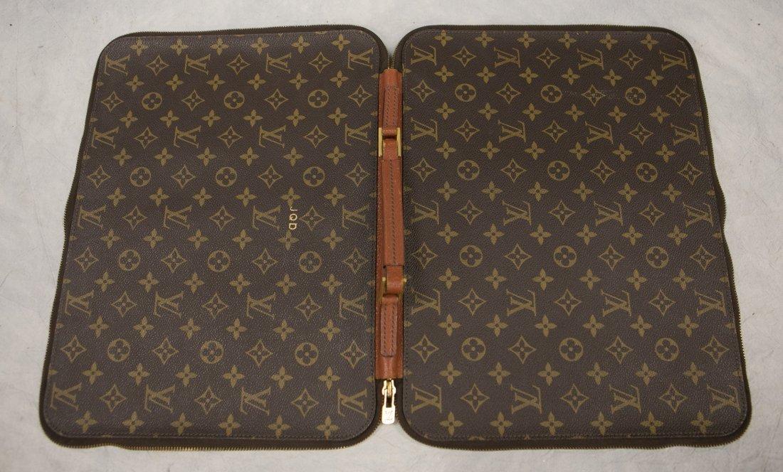 "(3) Louis Vuitton soft bags, portfolio, 15"" x 12"", JQD - 9"