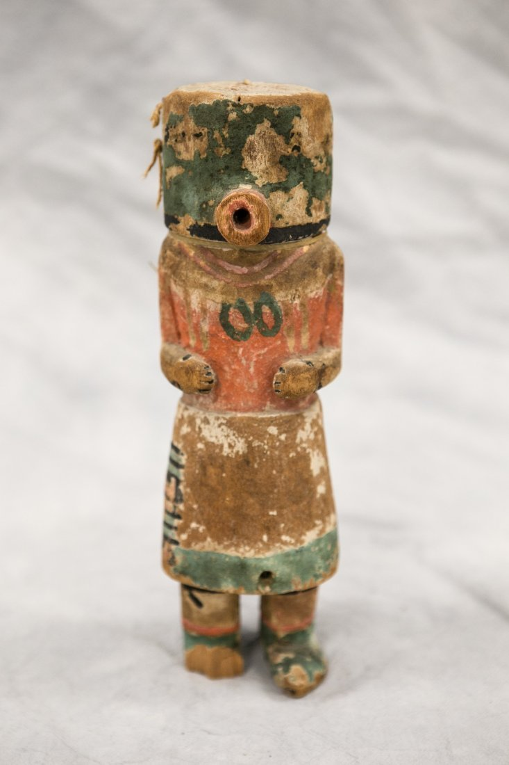 Native American carved polychrome painted Kachina doll,