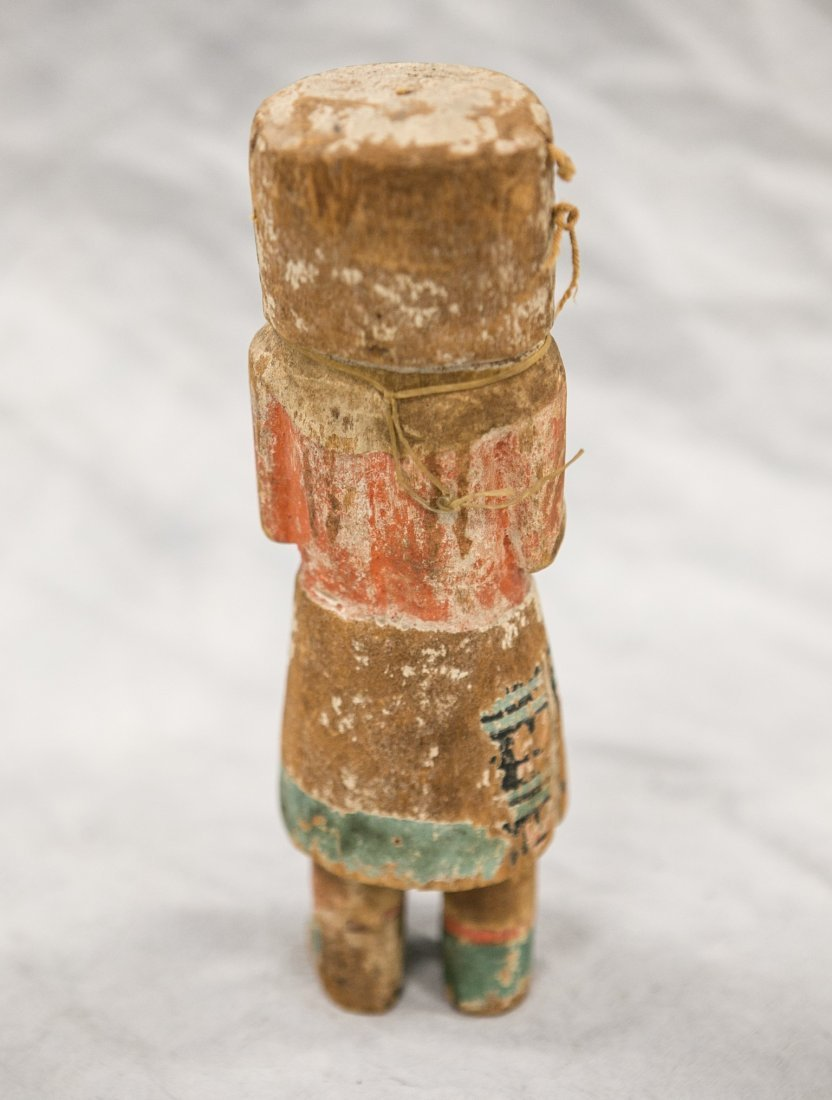 Native American carved polychrome painted Kachina doll, - 2