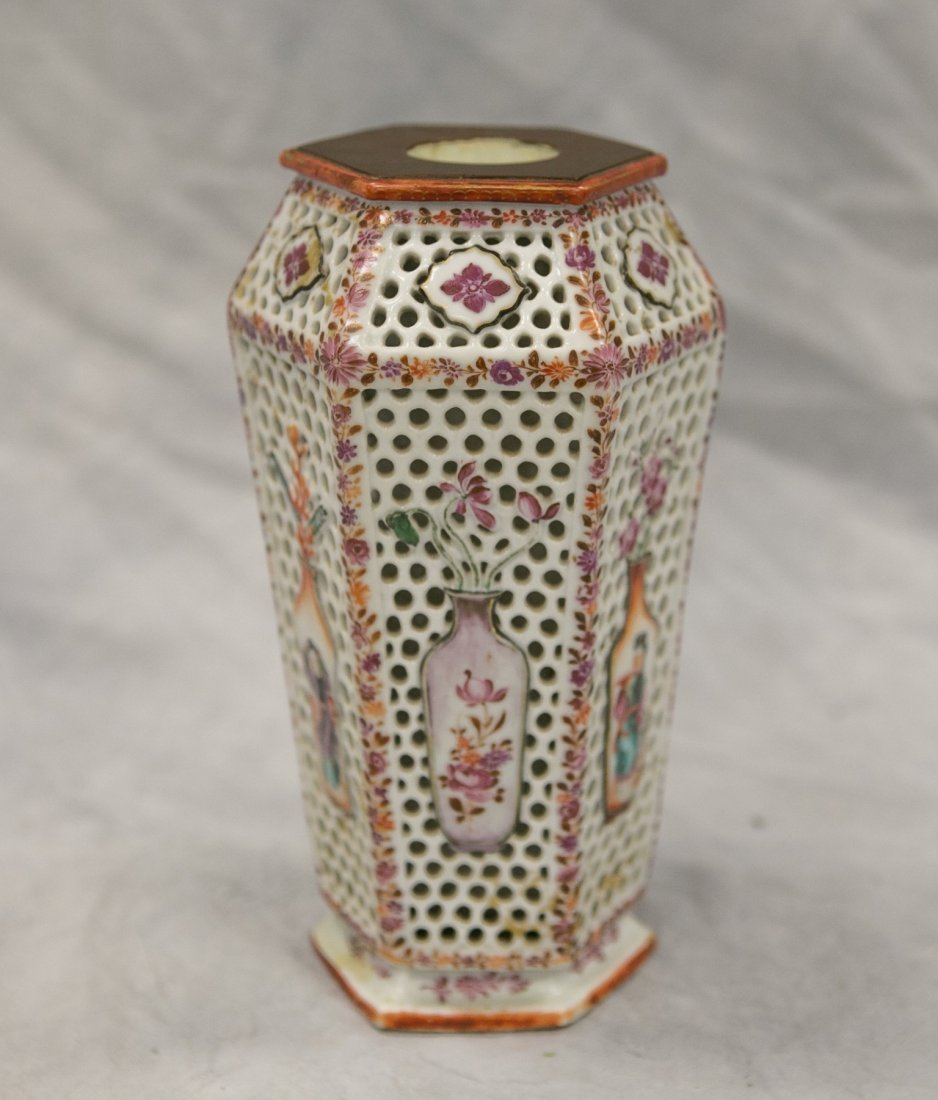 Chinese Export hexagonal-form reticulated double walled - 2
