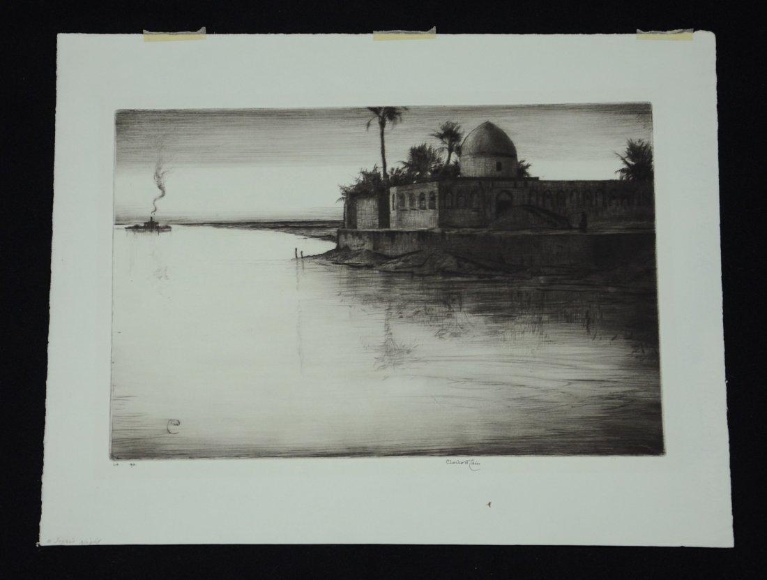 Charles William Cain (British, 1893-1962), etching, A