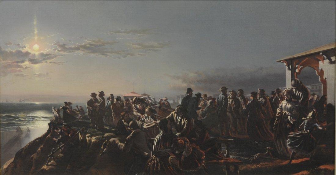 Charles G Rosenberg (American, 1818-1879), oil on