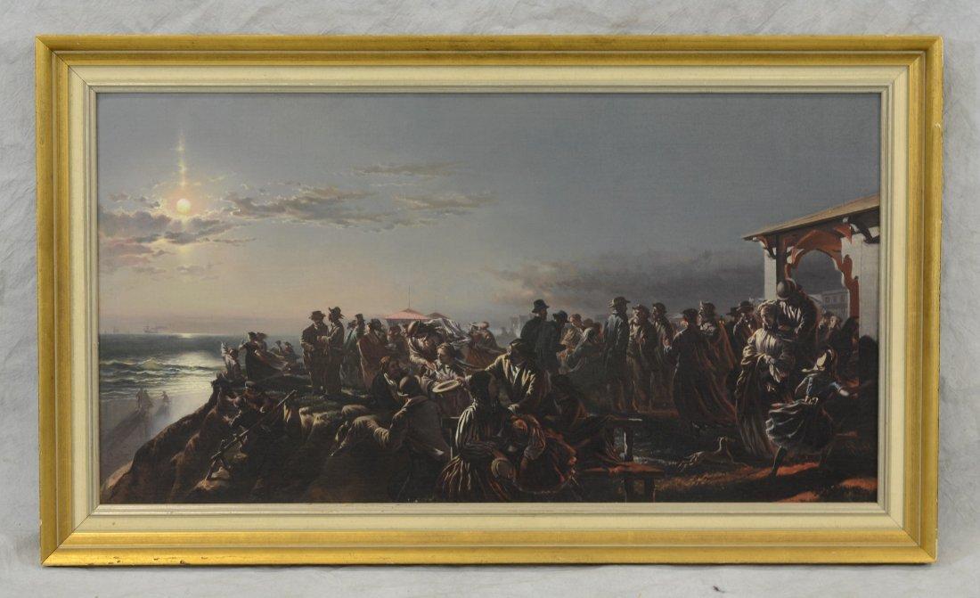 Charles G Rosenberg (American, 1818-1879), oil on - 2