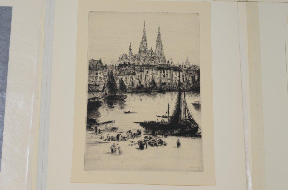 (4) Joseph Gray (English,1890-1962), etching, Street - 4