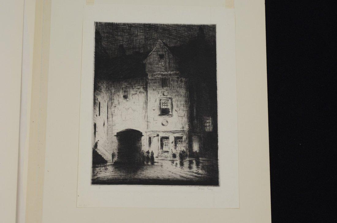 (4) Joseph Gray (English,1890-1962), etching, Street - 5