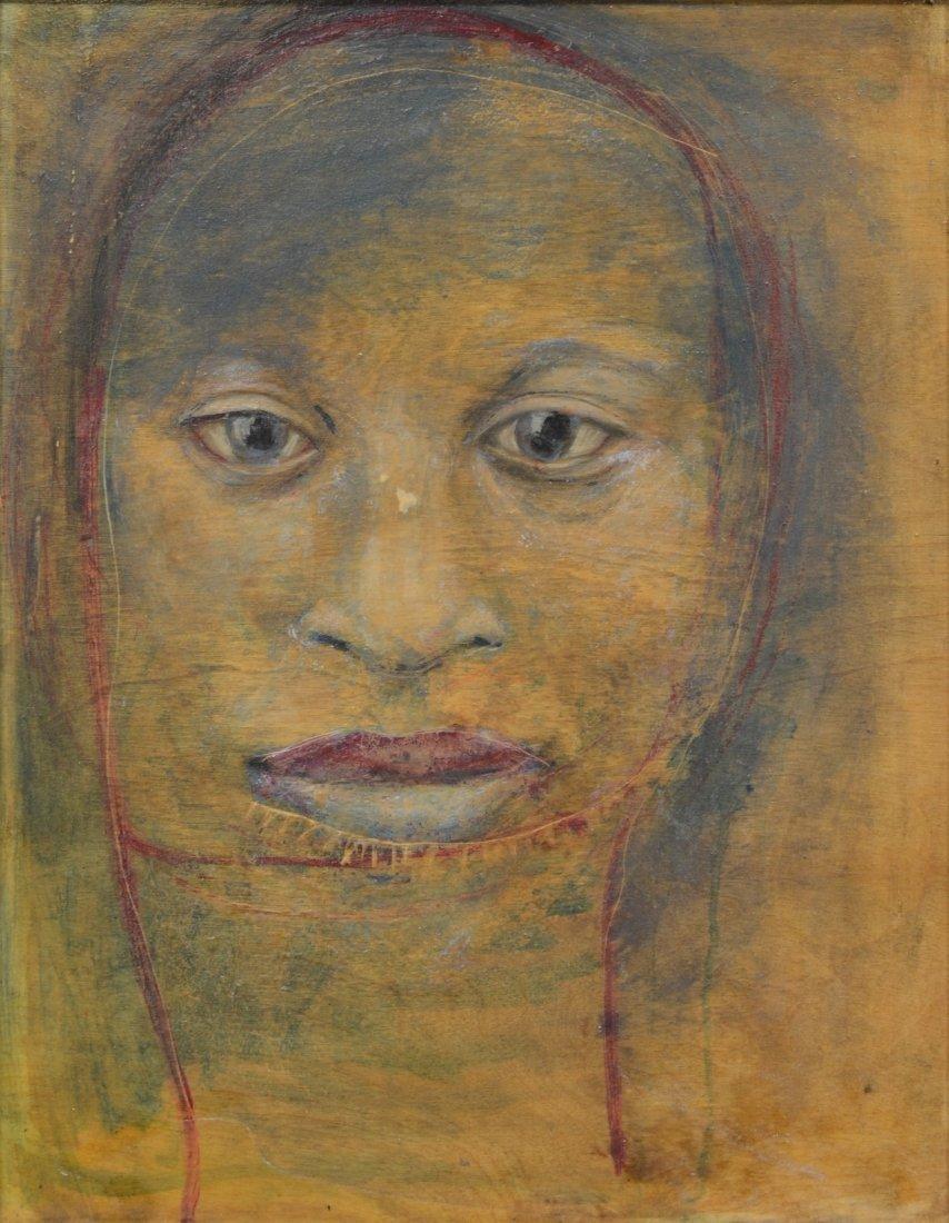 Rachel Bliss (American, b 1962), oil on wood panel,