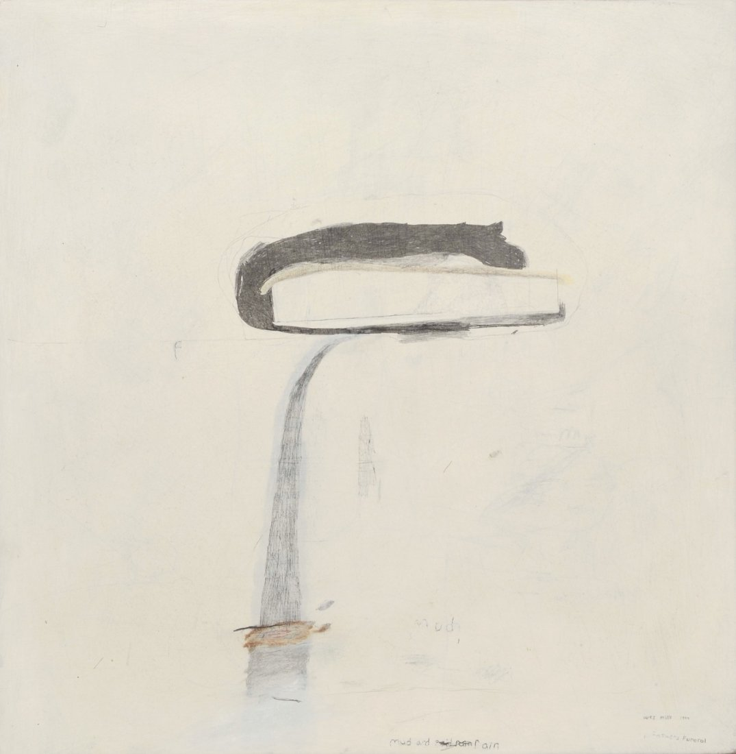 Wes Mills (American, b 1960), pencil, gesso, pigment on
