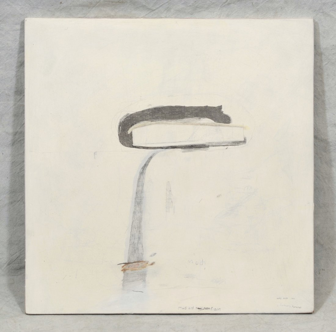 Wes Mills (American, b 1960), pencil, gesso, pigment on - 2