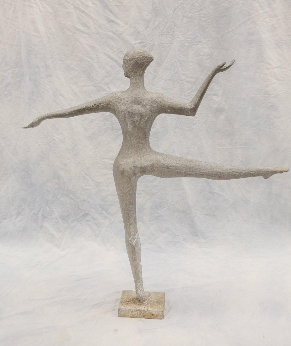 "Cast aluminum sculpture, ballet dancer on point, 32"" - 2"