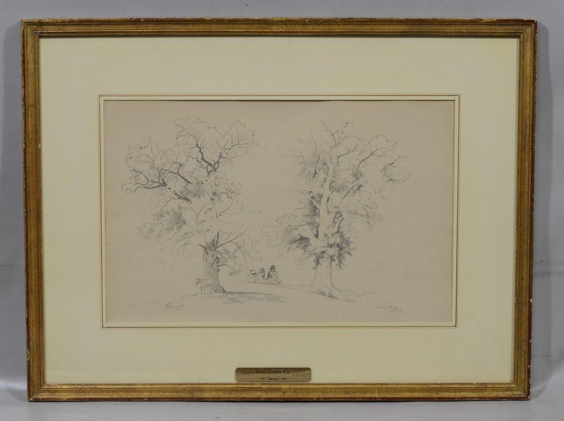 David Johnson (American, 1827-1908), graphite on paper, - 2